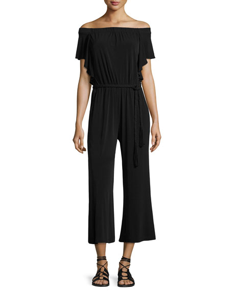 Kobi Halperin Shay Off-the-Shoulder Cropped Jumpsuit