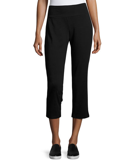 Eileen Fisher Organic Cotton Stretch-Jersey Cropped Pants