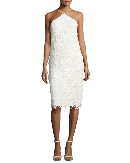 Trina Turk Conga Sleeveless 3D Lace Cocktail Dress,