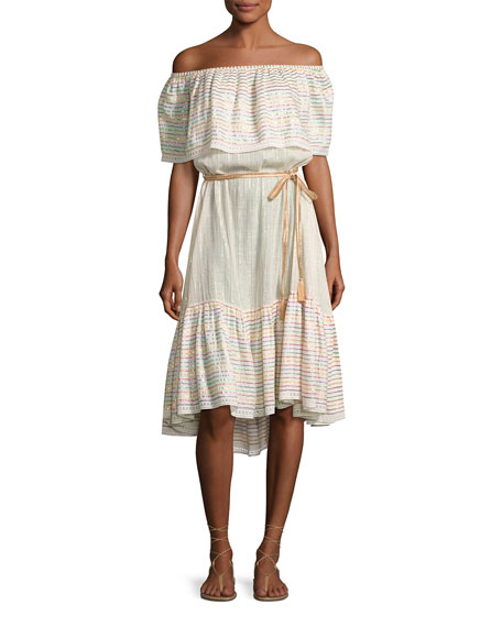 Amaya Goa Nights Off-the-Shoulder Dress, Multicolor