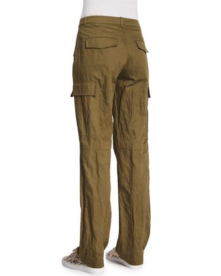 Straight-Leg Cargo Pants, Juniper