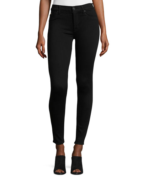 Hudson Nico Mid-Rise Super Skinny Jeans, Black
