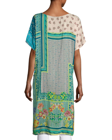 Modeli Printed Long Tunic, Multicolor, Plus Size
