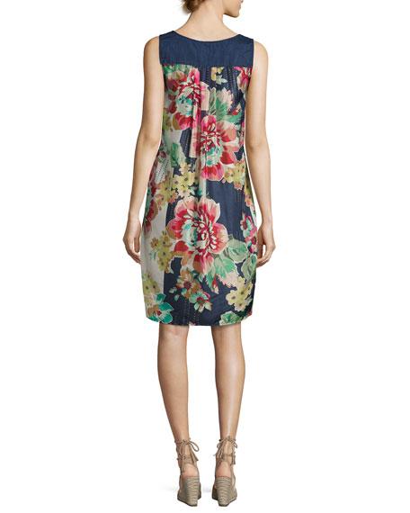 Tropic Thunder Scarf-Back Dress, Navy, Plus Size