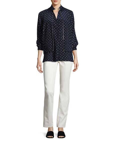 Eloise Sleeveless Dancing Dot Silk Blouse, Multi, Plus Size
