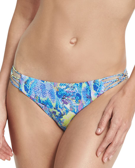 Braided Full Swim Bikini Bottom, Blue