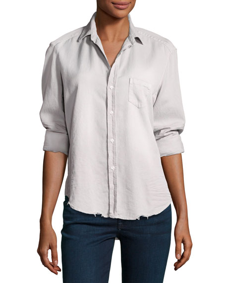 Frank & Eileen Eileen Long-Sleeve Distressed Button-Down Shirt,