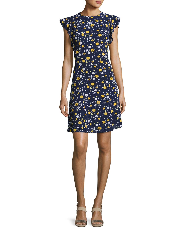 62d2a7dbce4 MICHAEL Michael Kors Verbena Flounce-Sleeve Dress