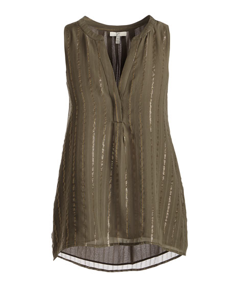 Aruna Silk Sleeveless Top