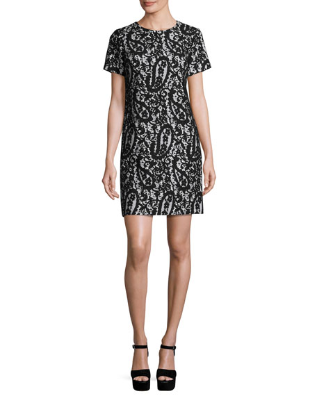 MICHAEL Michael Kors Mod Short-Sleeve Lace-Overlay T-Shirt Dress,