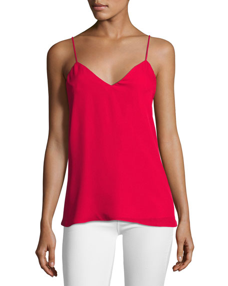 Haute Hippie The Essential Silk Cami, Crush Red