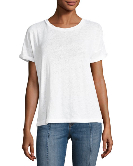 J Brand Signet Short-Sleeve Cotton Tee, White