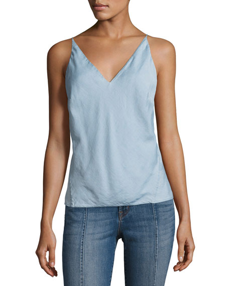 J Brand Lucy Cotton Camisole Tank, Graceful