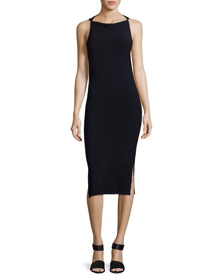 Haute Hippie Hold Me Tight Exposed-Back Midi Dress,
