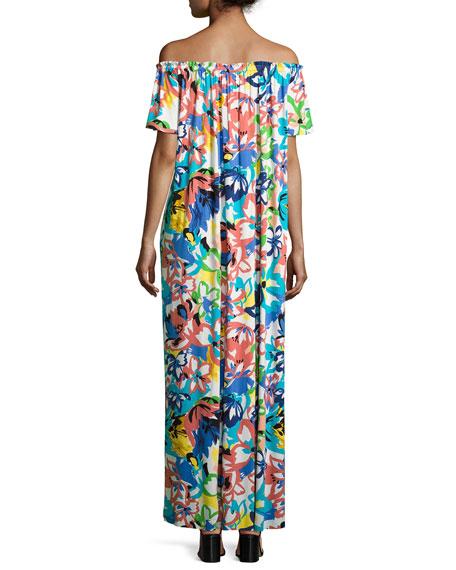 Ossi Printed Off-the-Shoulder Maxi Dress