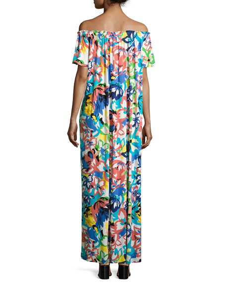Ossi Printed Off-the-Shoulder Maxi Dress, Plus Size
