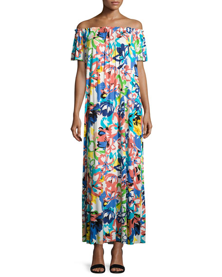 Rachel Pally Ossi Printed Off-the-Shoulder Maxi Dress, Plus