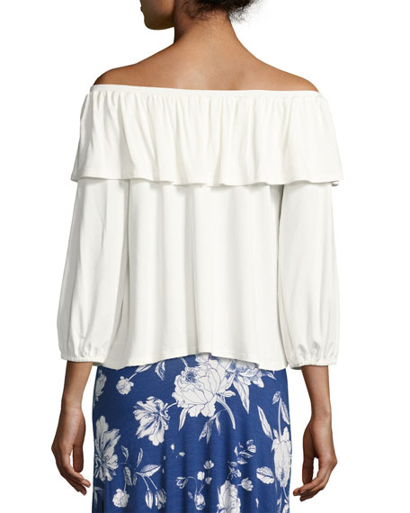 Diandre Off-the-Shoulder Top, White