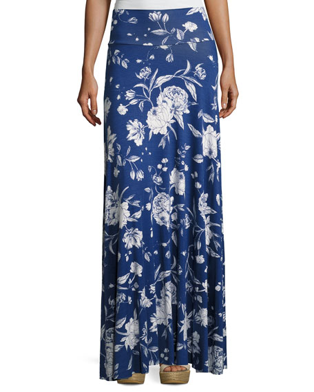 Rachel Pally Long Full Convertible Skirt, Seaside Peony