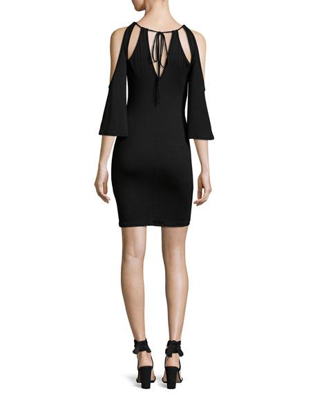 Mandana-Cut Jersey Dress, Black