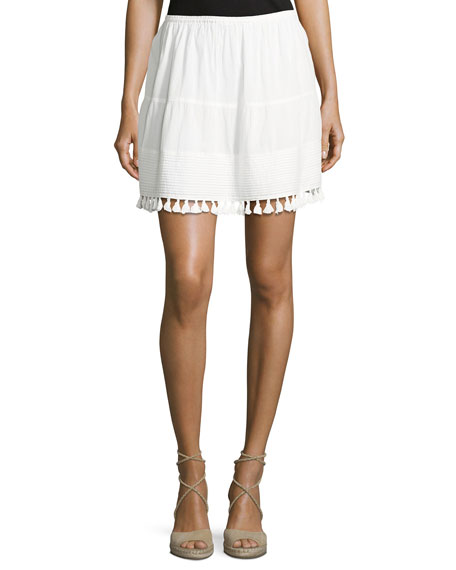 The Great The Park Tassel-Trim Skirt, White