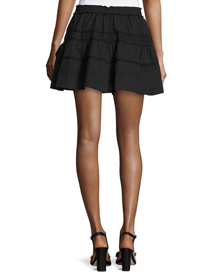Botanic Victorian Mini Skirt, Black