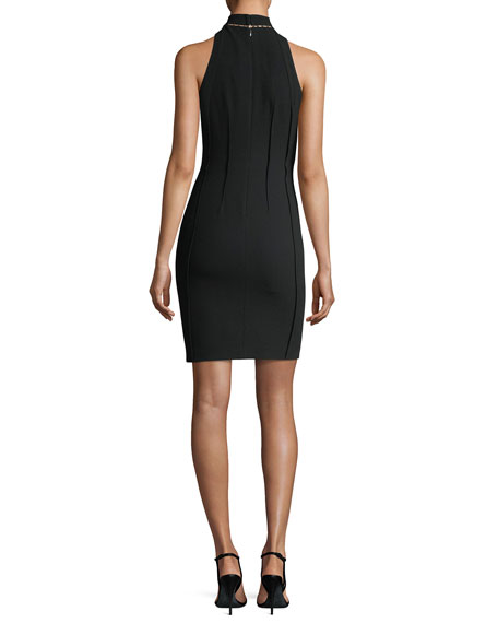 Viola High-Neck Mini Dress