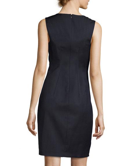 Linzi Sleeveless V-Neck Sheath Dress