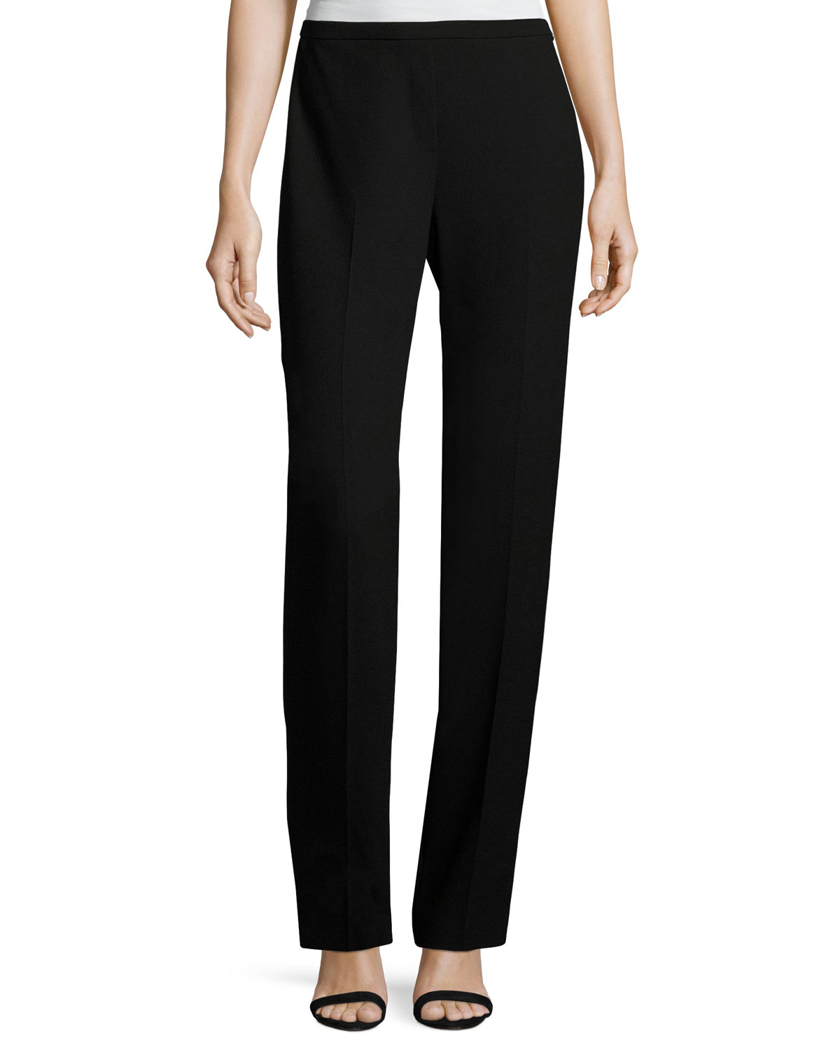 ac8ff0ed6e7ce Elie Tahari Stella Straight-Leg Stretch-Knit Pants