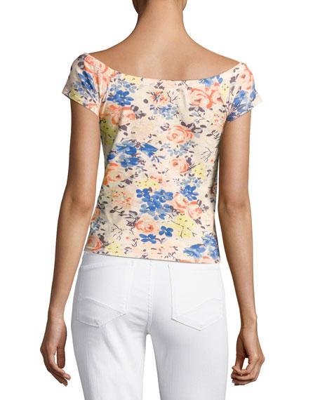 Gigi Off-The-Shoulder Floral-Print Top, Multicolor