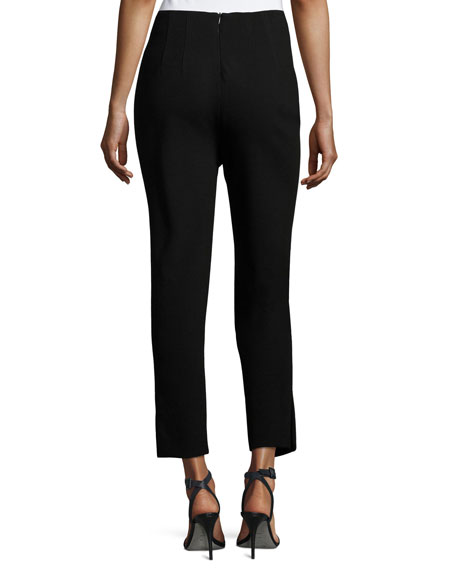 Crepe Tapered Ankle Pants