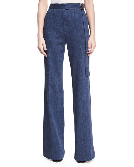 Josie Natori High-Waist Flare-Leg Jeans and Matching Items