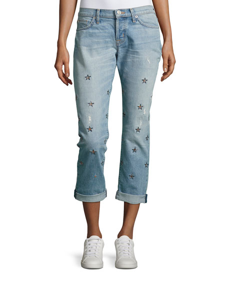 Hudson Riley Cropped Relaxed Straight Leg, Indigo