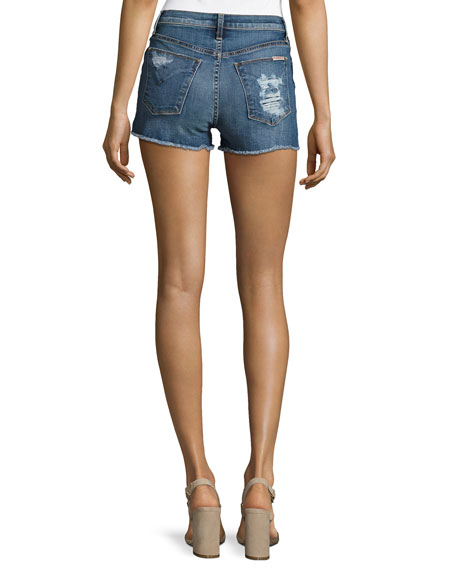 Soko High-Rise Cutoff Jean Shorts, Indigo