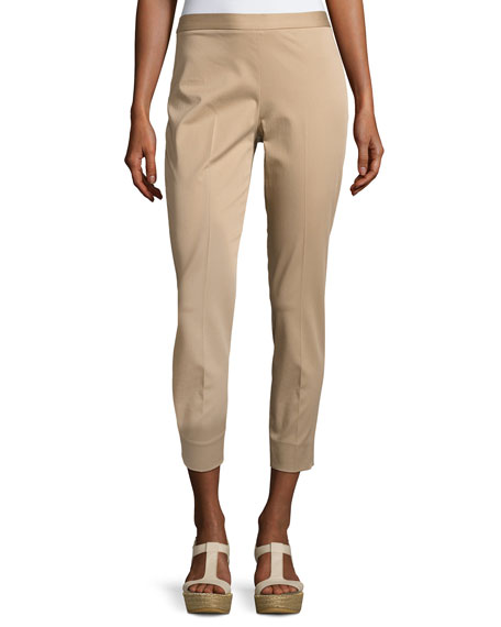 Antonelli Sestriere Tapered Wide-Cuff Pants, Beige