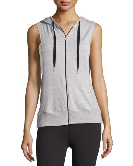 Vest Behavior Hoodie, Light Gray