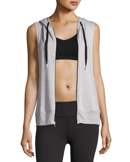 Beyond Yoga Vest Behavior Hoodie, Light Gray