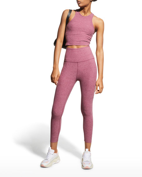 Space-Dye High Waist Capri Legging