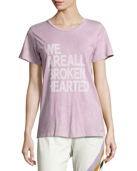 FREECITY Broken Hearted Short-Sleeve Tee, Purple