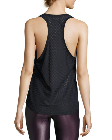 Runout Athletic Mesh Tank, Black