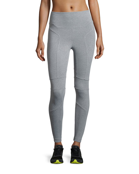 Pitcher High-Rise Performance Leggings, Gray