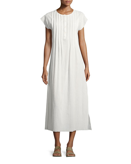 ATM Anthony Thomas Melillo Gauze Pleated Maxi Dress,