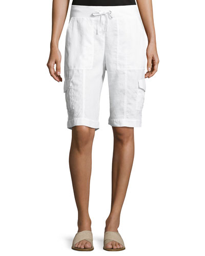 Women's Designer Shorts: Denim & Linen at Neiman Marcus