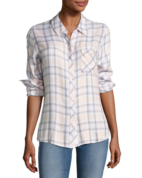 Rails Hunter Plaid Shirt, White Lilac Multipattern