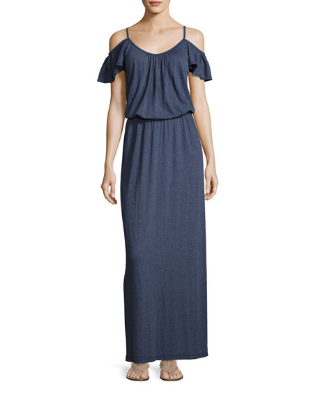 Soft Joie Jassina Cold-Shouler Maxi Dress, Blue