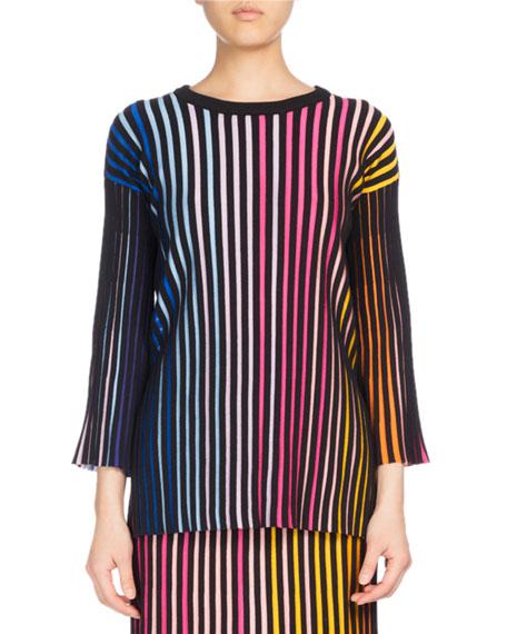 Kenzo Crewneck Paneled Sweater, Multicolor