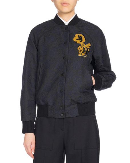 Kenzo Teddy Blouson Bomber Jacket, Navy