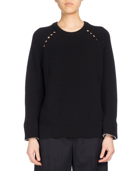 Kenzo Ribbed Sport Comfort Sweater, Black