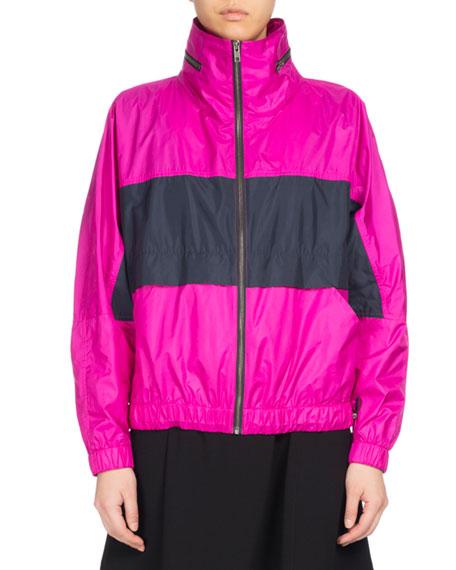 Kenzo Wind-Blocking Colorblock Jacket, Fuchsia