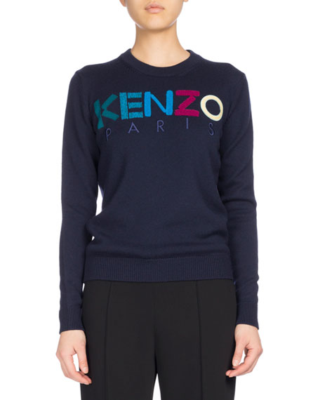 Kenzo Classic Crew Sweater, Navy